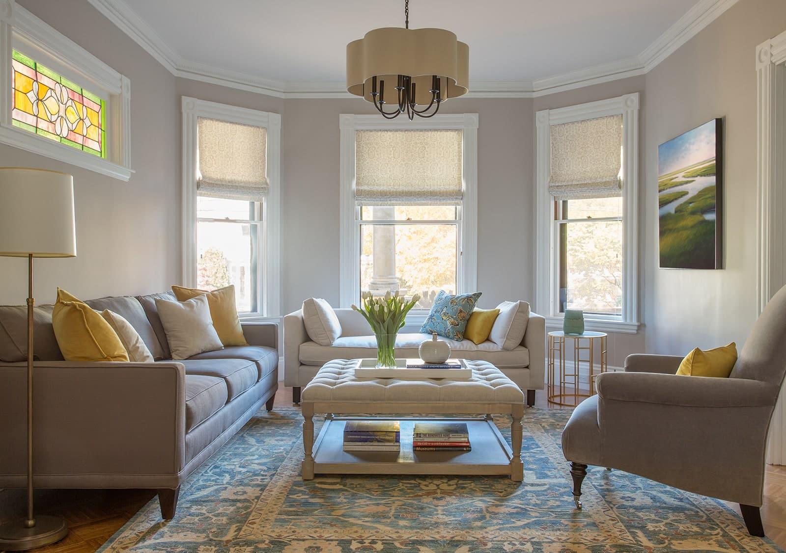 Belmont MA Victorian Living Room