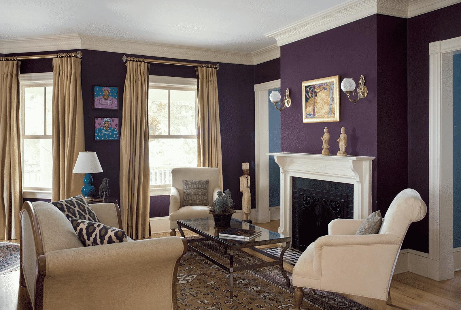 Grand Victorian Winchester MA Living Room