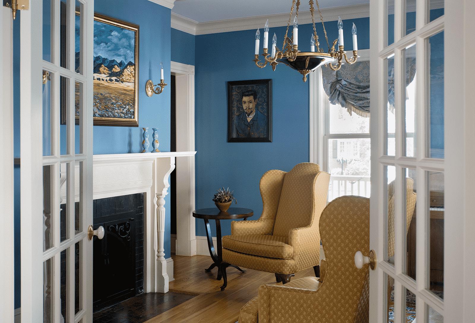 Grand Victorian Winchester MA Sitting Room