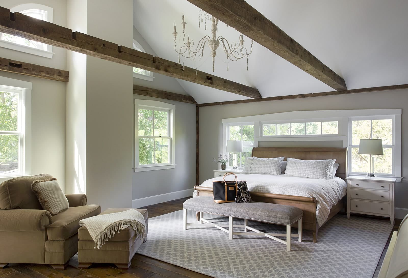 Lynnfield MA Farmhouse Bedroom