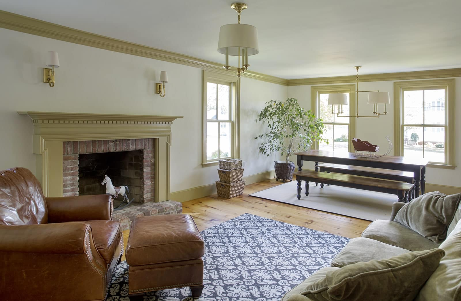 Lynnfield MA Farmhouse Living Room