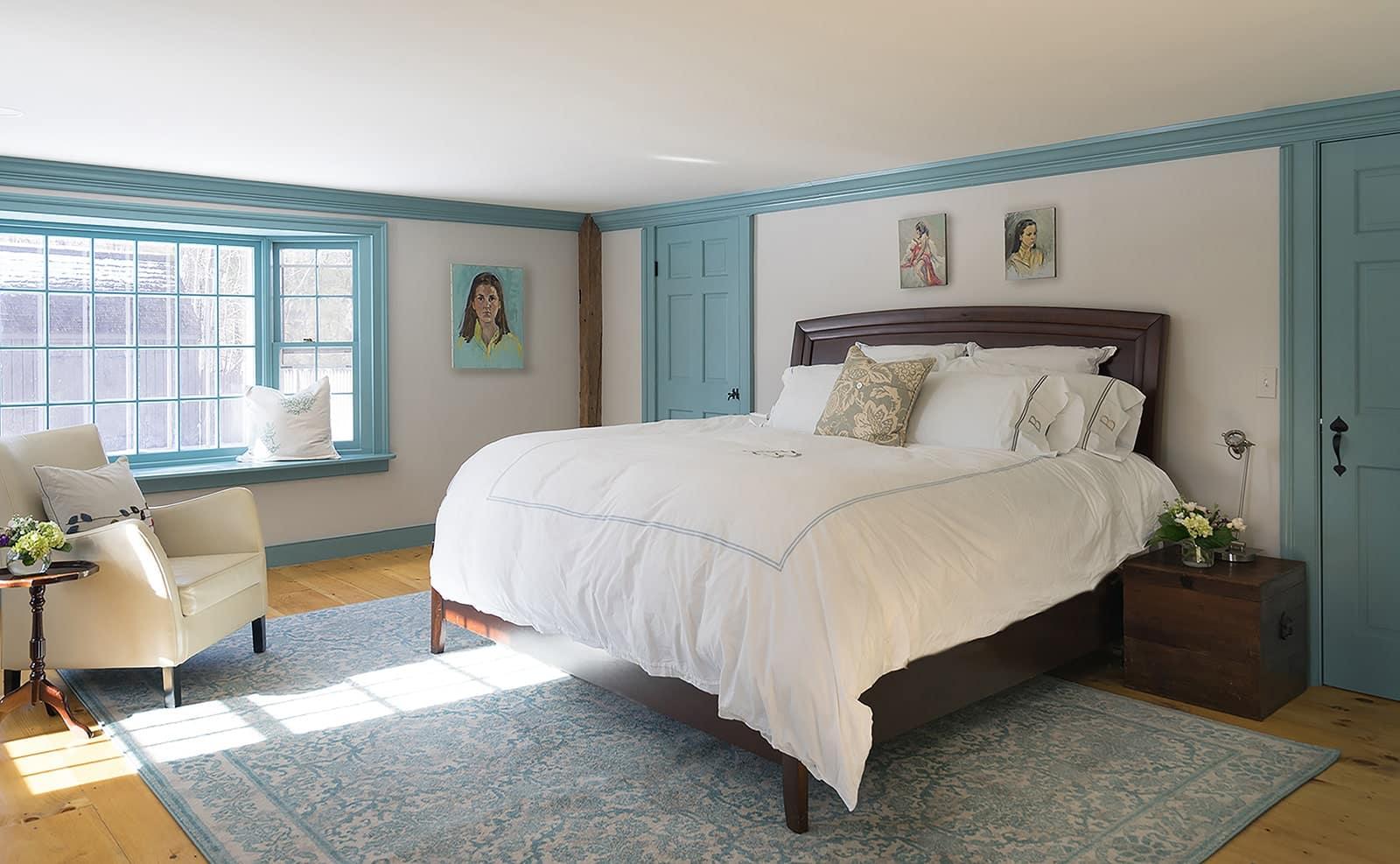 New Hampshire Homestead Historic Interior Bedroom