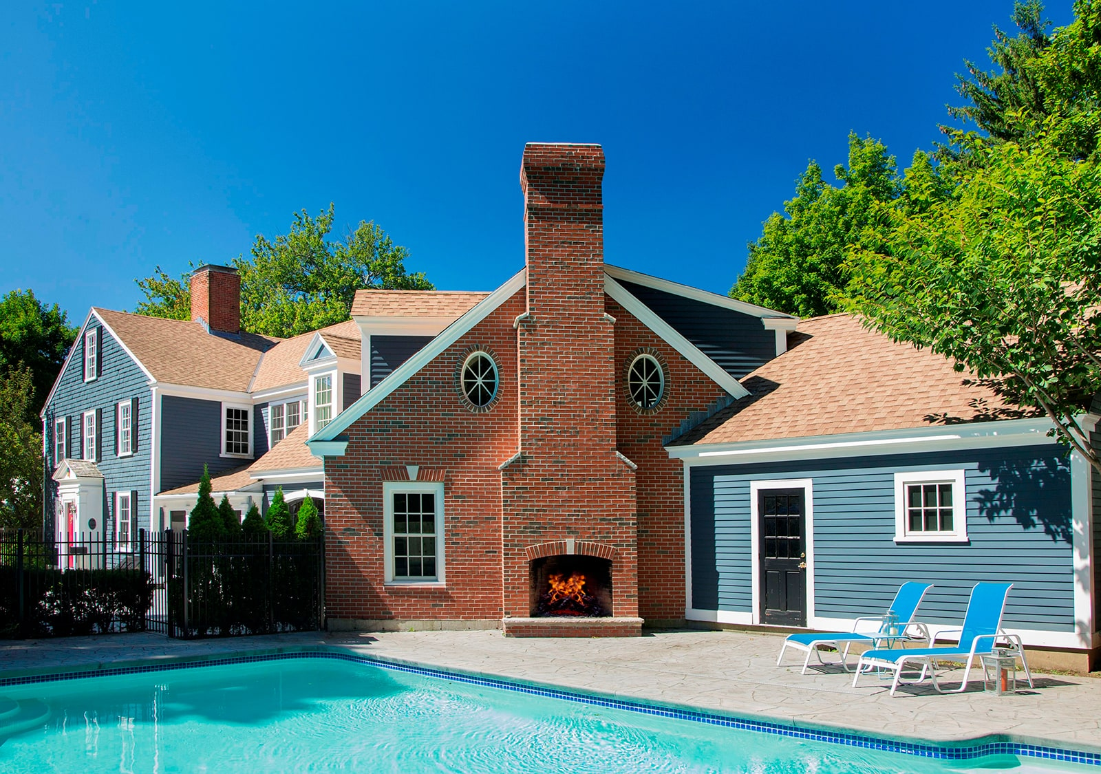 William Cook House Beverly MA Pool Exterior