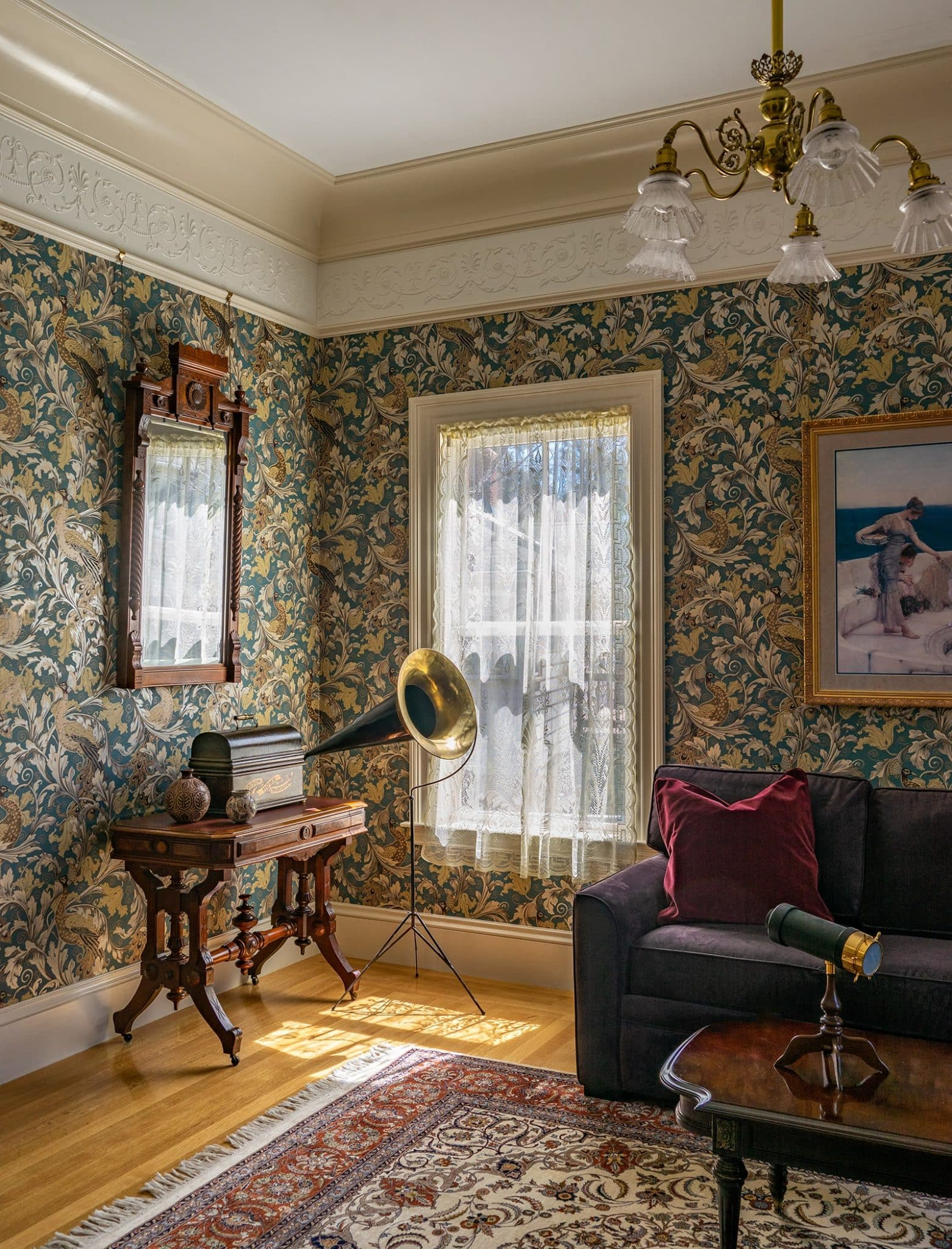 Winchester MA Victorian Living Room
