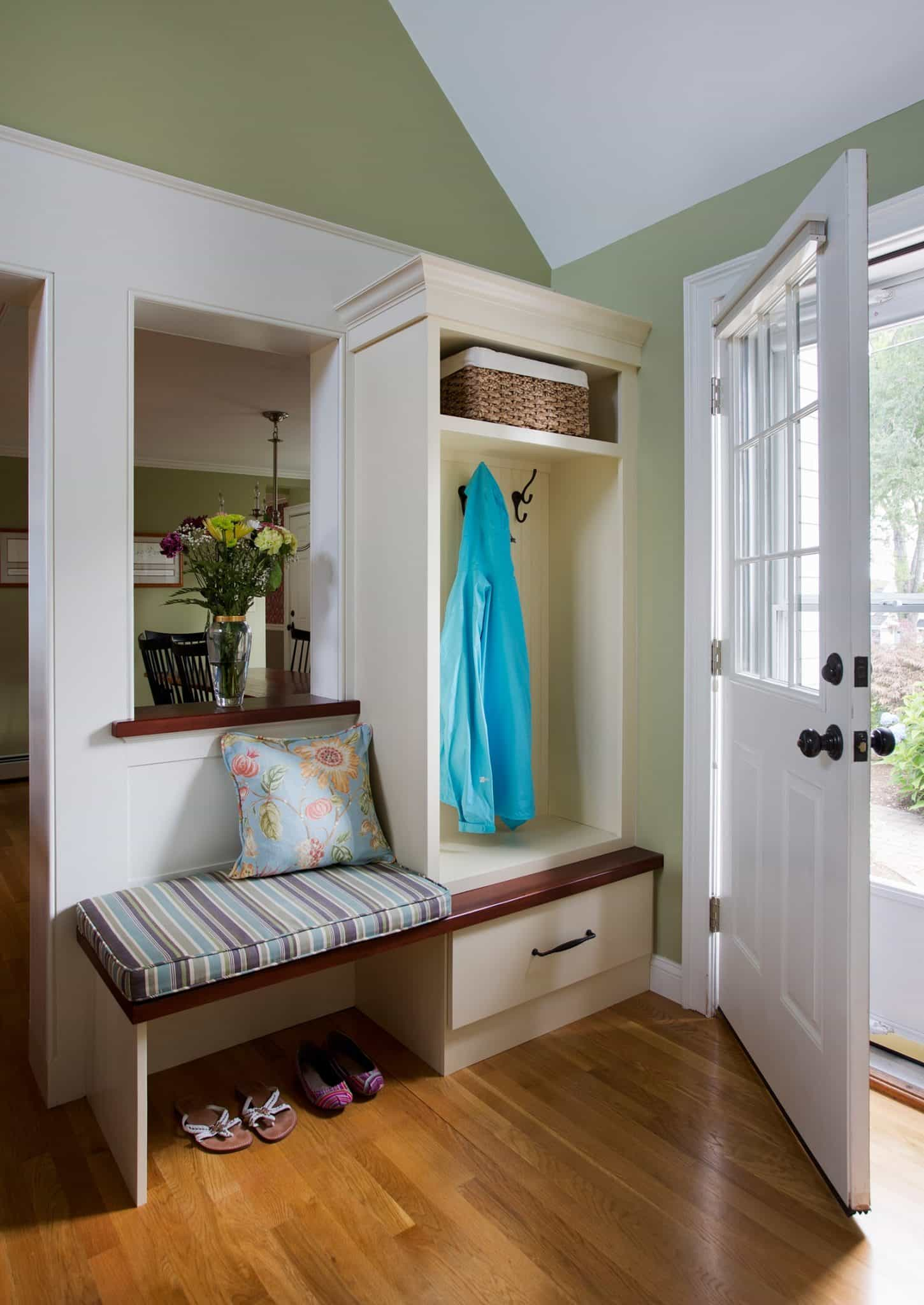Cape Style Home Interiors Ipswich MA Mudroom Entryway