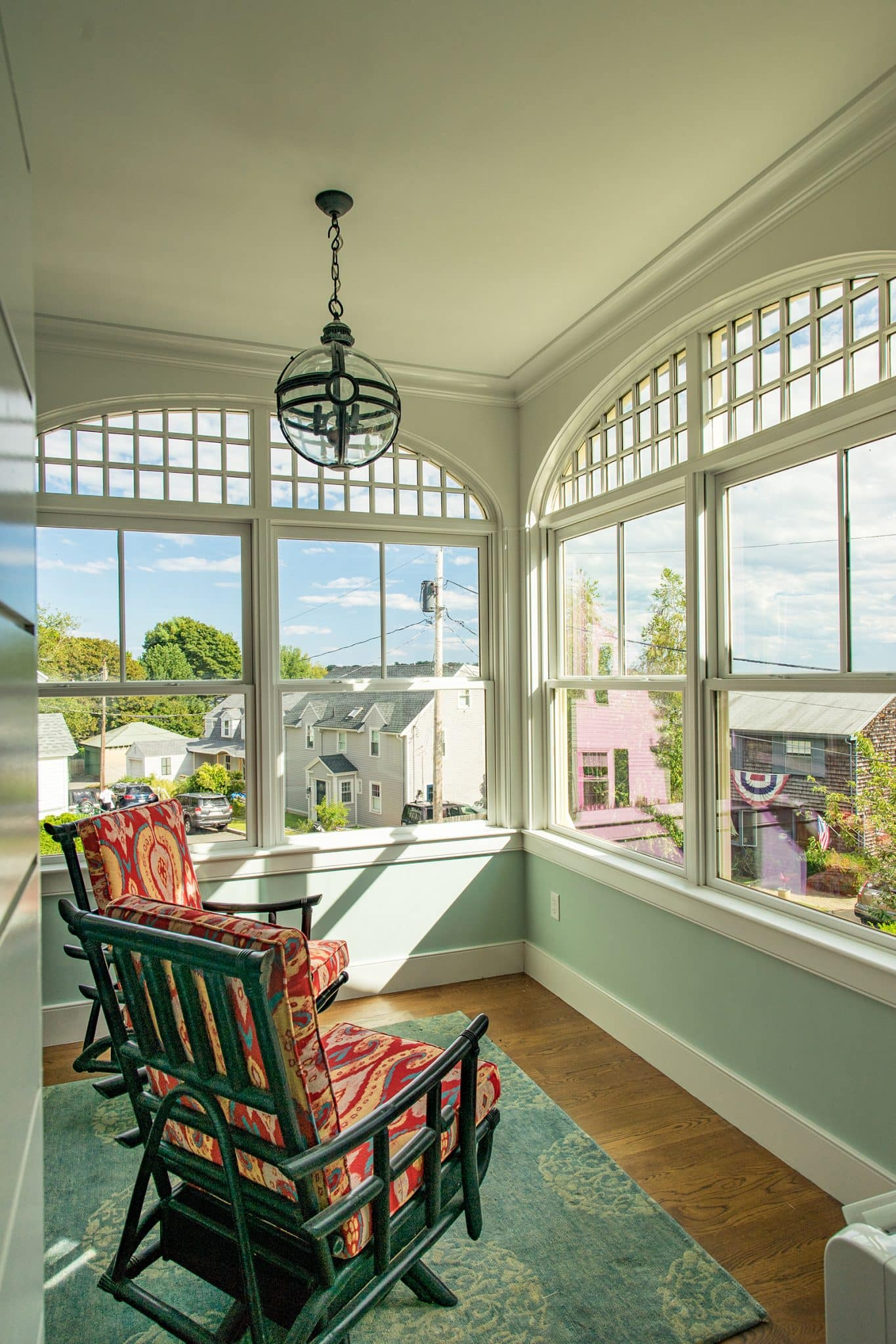 Coastal Victorian Marblehead MA Porch