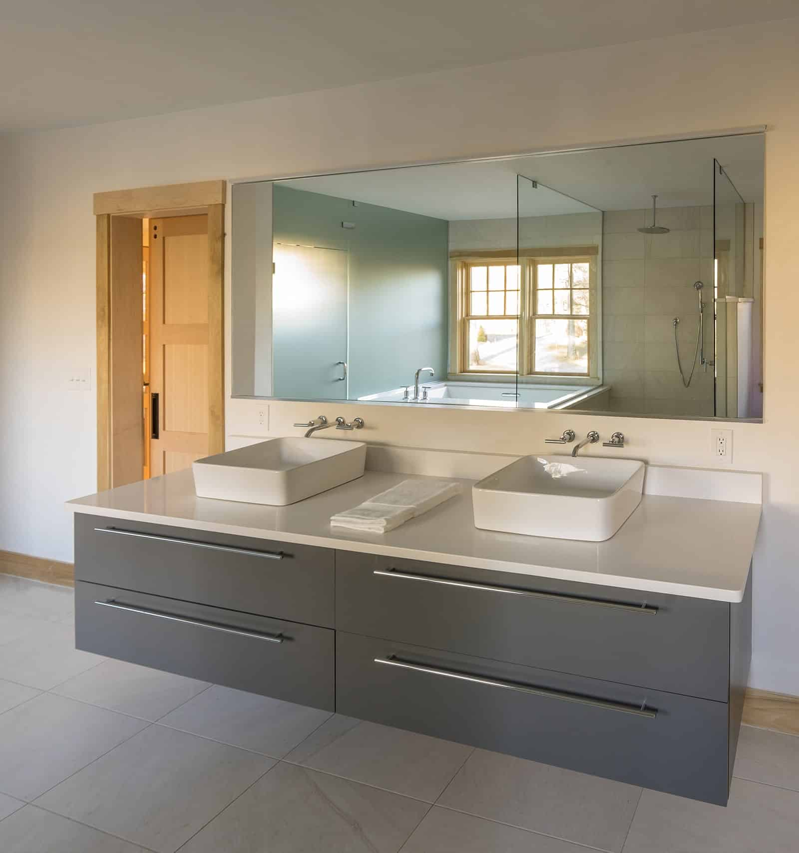 Contemporary Retreat Interiors Ipswich MA Bathroom