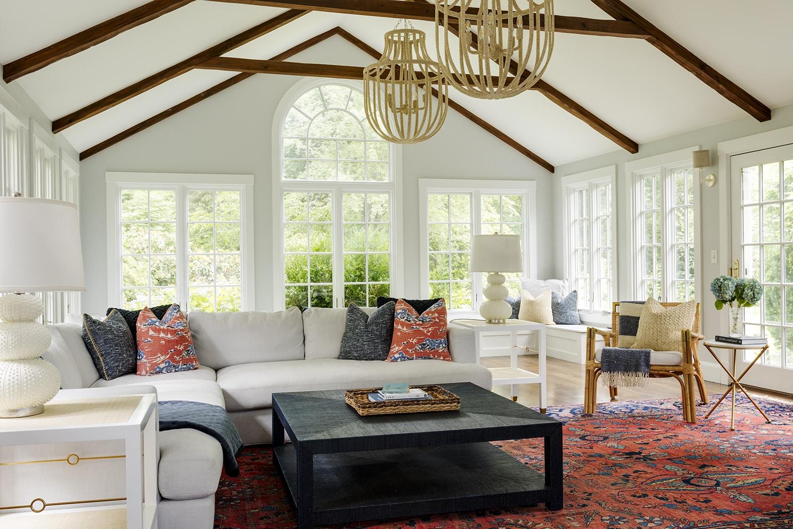 Asian Garden Colonial Hamilton MA Living Room