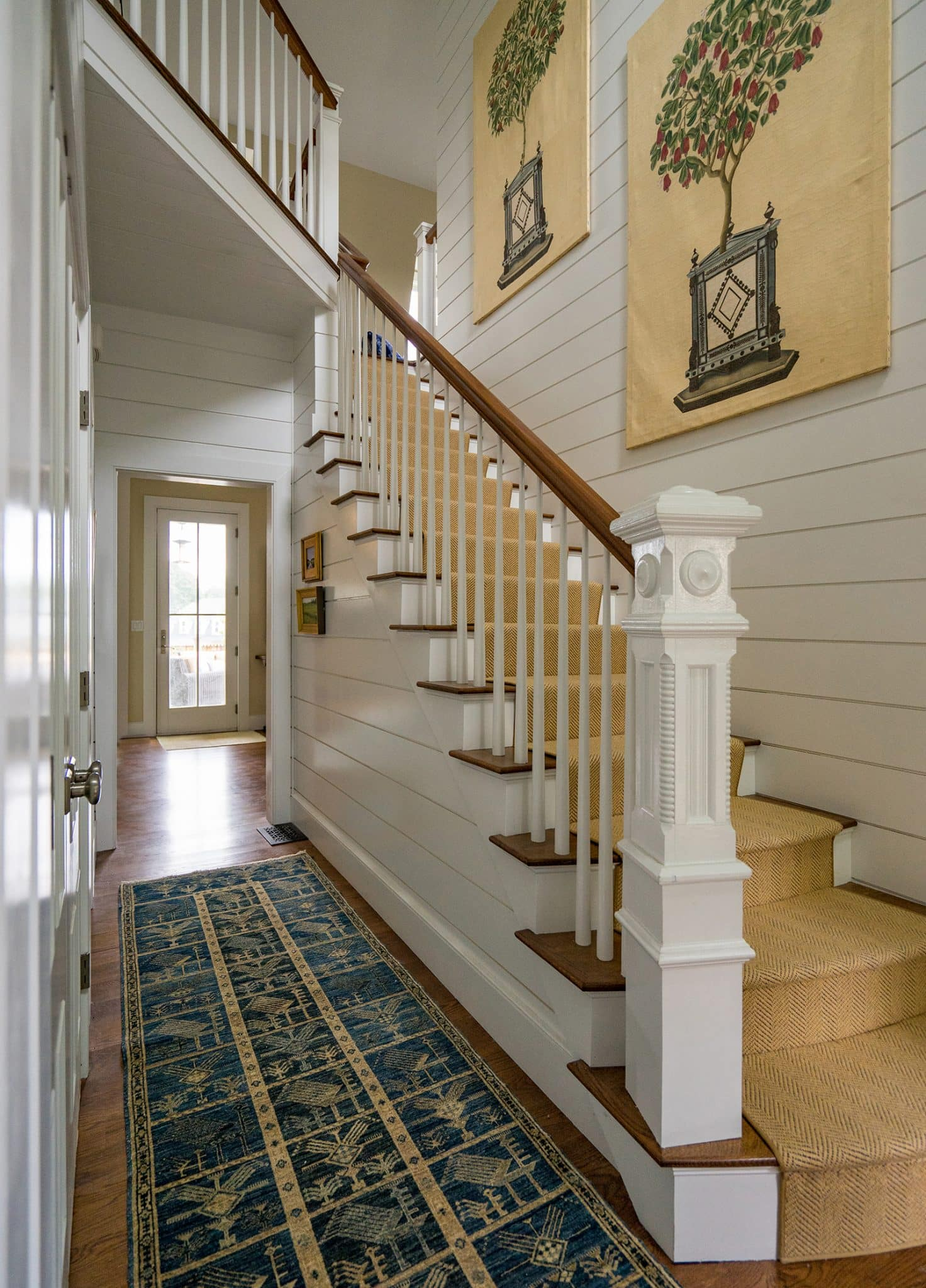 Coastal Victorian Marblehead MA Stairs