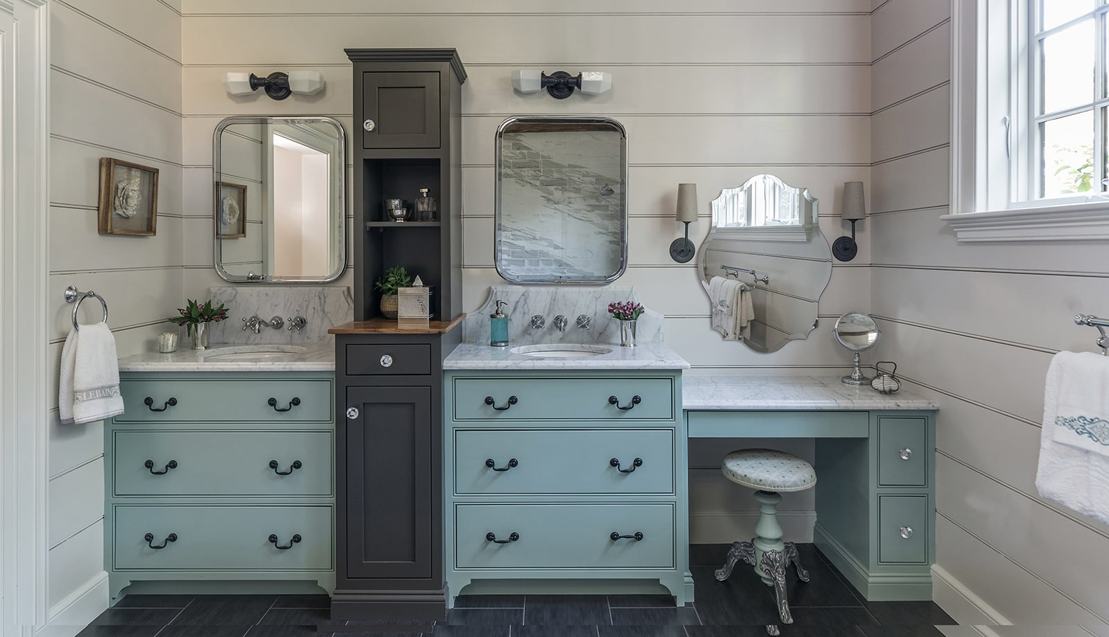 Farmhouse Flair Interiors Ipswich MA Bathroom