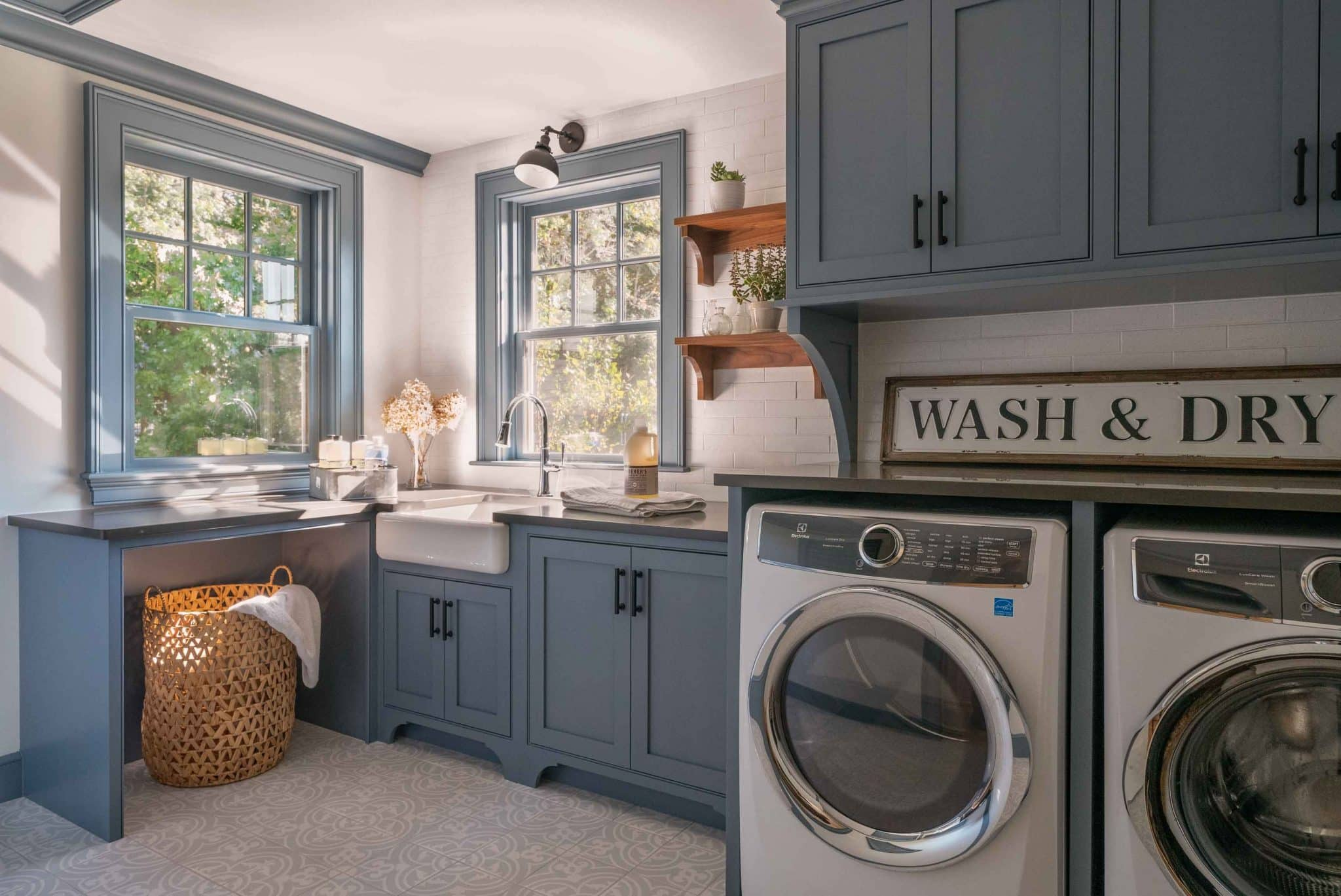 Farmhouse Flair Ipswich MA Laundry Room