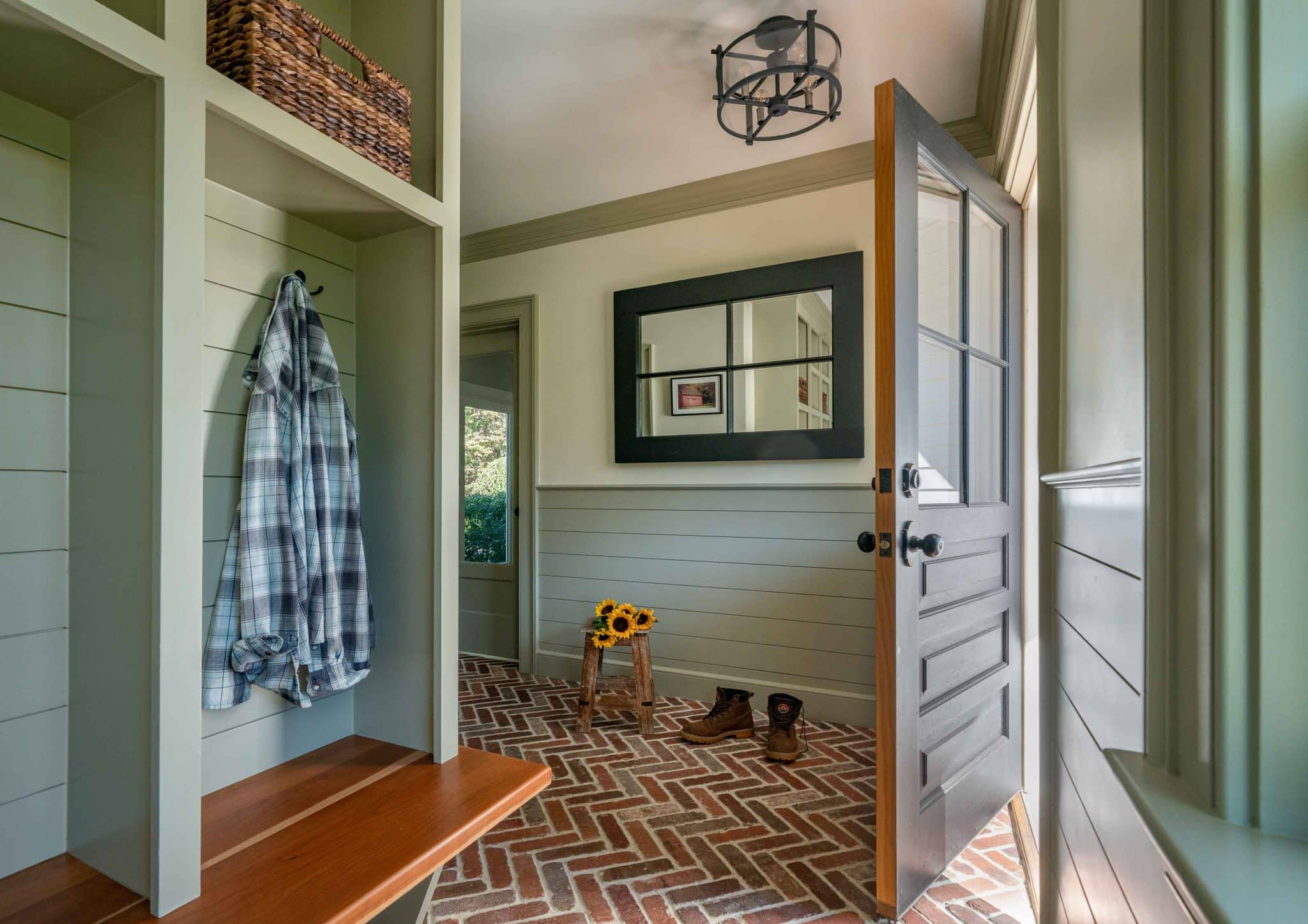 Farmhouse Flair Ipswich MA Mudroom