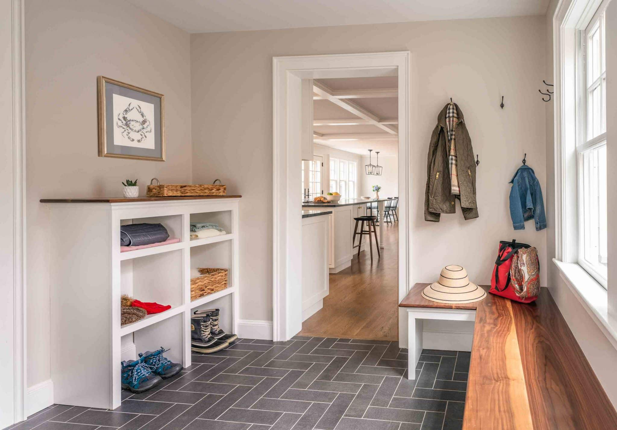 French Flair Winchester MA Mudroom