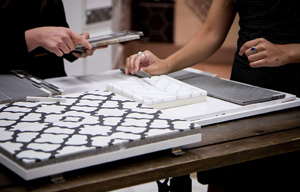 Interior Design Selecting Finishes Showroom