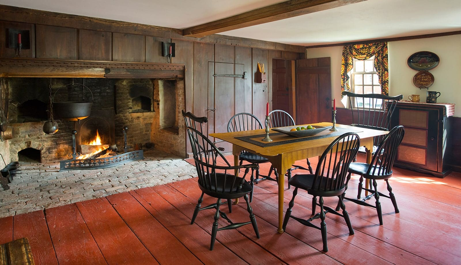 Lummus House Historic Colonial Ipswich MA Dining Room
