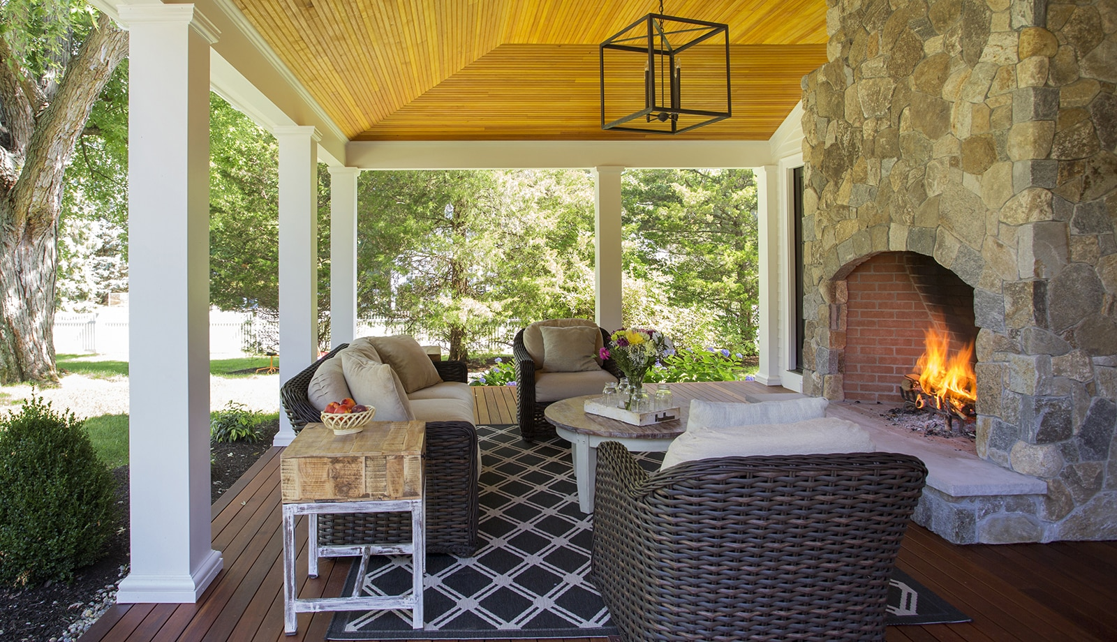 Lynnfield MA Farmhouse Porch Featured