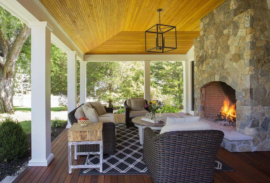 Lynnfield MA Farmhouse Porch web