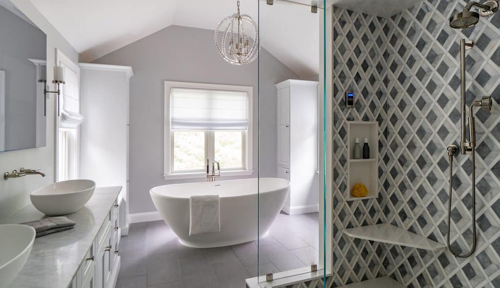 North Shore Tranquility Interiors Middleton MA a Bathroom