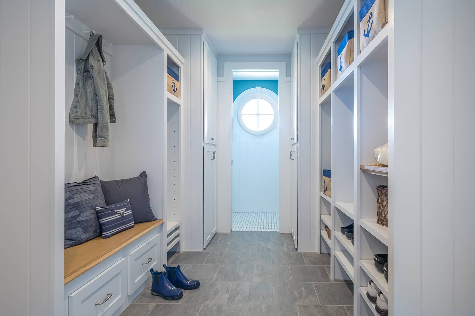 Oceanfront Shingle Style Gloucester MA Mudroom