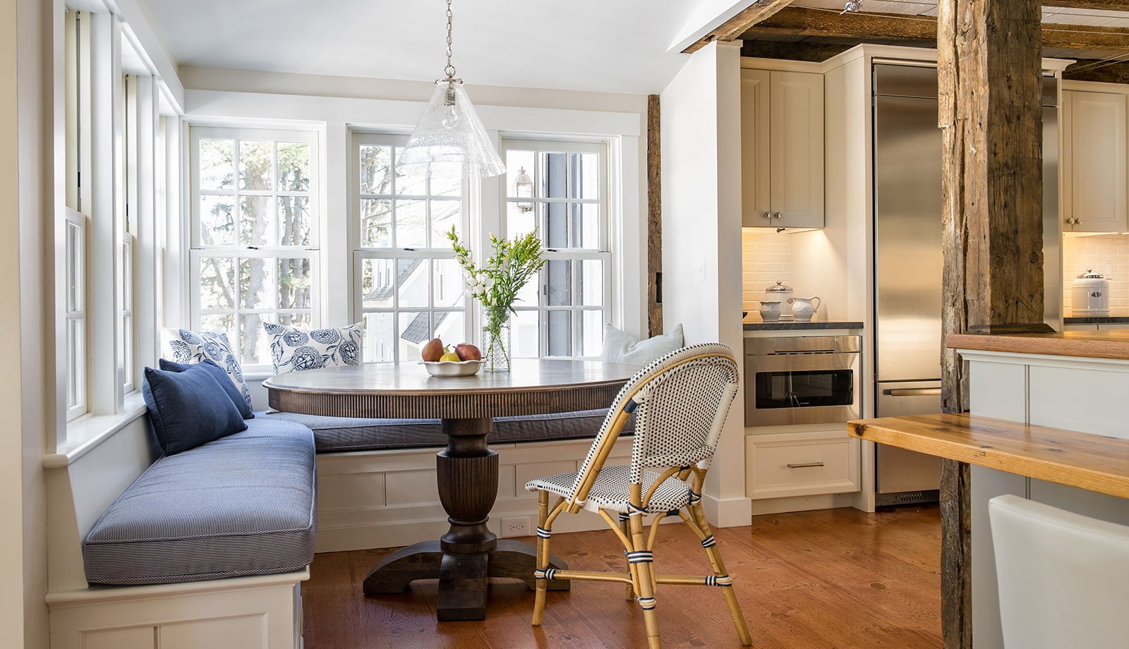 Timothy Hyde House Newton MA Breakfast Nook featured