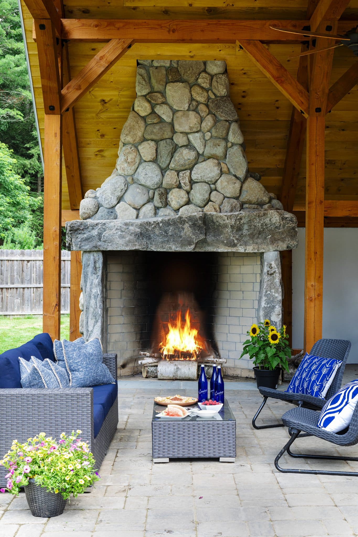Twin Hills Farm Rowley MA Fireplace